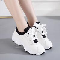 温州加绒保暖运动鞋女韩版百搭跑步鞋高跟鞋休闲鞋女学生休闲女鞋