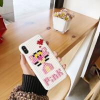 潮牌乐高diy粉顽皮豹积木iPhone6plus手机壳oppoR9S R11/7P小米8 iphone XR顽皮豹