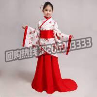 古装服装儿童演出服 儿童古装 女女童汉服曲裾女舞台装仙改良儒裙