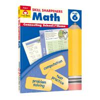 Evan-Moor Skill Sharpeners Math Grade 6 小学数学六年级练习册 美国加州教辅 技