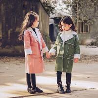 儿童毛呢外套羊羔毛呢子大衣女童宝宝2017新款秋冬装韩版单排扣潮