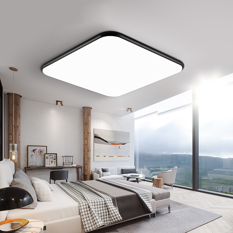 雷士照明led客厅灯简约现代长方形无极调光超薄卧室灯家用吸顶灯