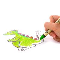 儿童蜡笔可水洗 宝宝蜡笔多颜色幼儿大蜡笔防摔画画笔
