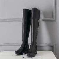 大码女靴加绒保暖棉靴女中跟皮靴粗跟长筒靴过膝靴女高筒靴子