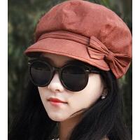 新款时尚女士贝雷帽八角帽 薄款中老年妈妈瘦脸报童帽画家帽