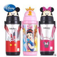 迪士尼儿童夏季吸管杯 塑料学生水杯卡通运动水壶随手杯