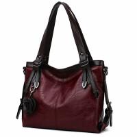手提包女款手拎包牛皮女包单肩大包包 复古新款大容量女包托特包手提挎包女士软包包
