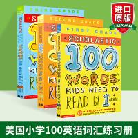 华研原版 学乐1-3年级英文练习册 100单词词汇 英文原版 Scholastic 100 Words Kids Ne