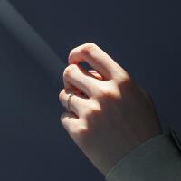 戒指女学生食指戒关节戒指个性简约
