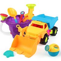 儿童沙滩玩具铲子和桶小孩玩沙挖沙工具大号车宝宝海边玩沙子套装