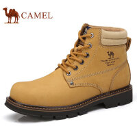 camel 骆驼男鞋 秋季新品轻盈工装靴缓震牛皮马丁靴高帮工装鞋