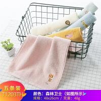 小毛巾纯棉儿童男女洗脸家用卡通柔软吸水不掉毛