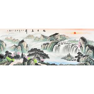 广东美术家协会会员   刘一民旭日东升gs01548