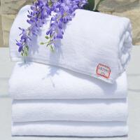 白色毛巾纯棉美容院洗浴中心足疗加厚吸水面巾 0x0cm