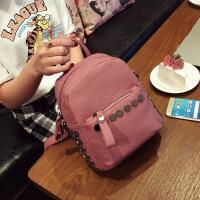 韩版时尚铆钉迷你双肩包2018新款旅行小包休闲女包背包