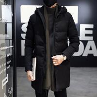 男士外套冬季2018新款中长款棉衣韩版潮流羽绒反季加厚棉袄子