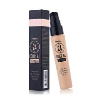 泰国Mistine24小时不脱妆防晒隔离粉底液 保湿遮瑕持久裸妆美白 F2(自然色)