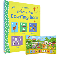 Usborne Lift The Flap Counting Book 学数字 幼儿英语启蒙低幼早教 立体翻翻书 2岁