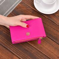 卡包女式多卡位韩国可爱个性简约小巧迷你卡夹驾照夹银行卡套 玫红色 收藏优先发货