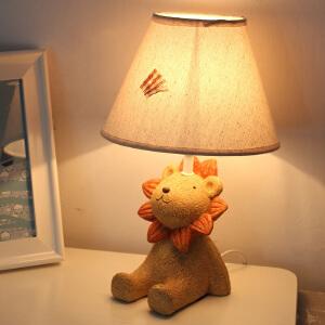 御目 台灯 田园可爱台灯卧室温馨床头灯动物可调节暖光卡通小夜灯儿童房男孩女孩生日礼物满额减限时抢礼品卡创意灯具