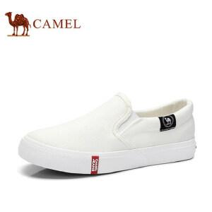 骆驼牌 女鞋 低帮帆布鞋女平底时尚休闲乐福鞋小白鞋韩版