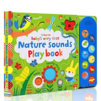 进口英文原版绘本 Baby's Very First Nature Sounds Playbook 纸板触摸发声书 翻