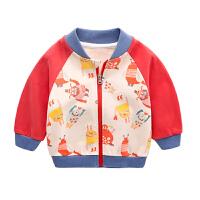 宝宝外套男春秋儿童棒球服3女童上衣潮1岁新生儿衣服纯棉婴儿春装