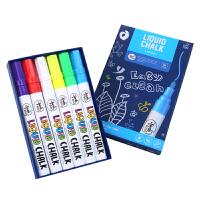 粉笔无尘彩色儿童液体粉笔 黑板粉笔幼儿园可水洗涂鸦画笔儿童彩笔非记号笔水溶性粉笔