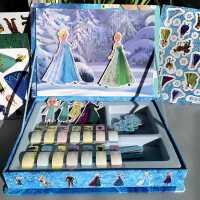 冰雪奇缘磁力贴纸书反复粘贴3-4567岁儿童小女孩公主换装贴画玩具