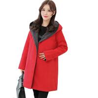 慈颜CIYAN孕妇装红色加里布加厚大衣 孕妇冬款大衣WML76