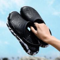 凉拖鞋男2019新款夏季洞洞鞋潮流外穿凉鞋包头拖鞋防滑软底沙滩鞋