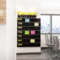 公司企业文化背景墙贴画3d立体墙贴亚克力墙贴纸办公室公告栏装饰 593留言板-黄+黑