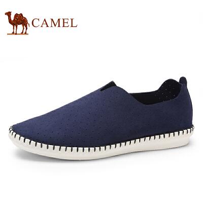 骆驼牌情侣鞋 新款透气休闲鞋男鞋手工缝制轻质女单鞋