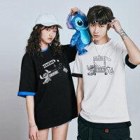 太平鸟男装 史迪奇系列新款短袖T恤男韩版潮流情侣装夏装休闲上衣