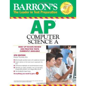 英文原版Barron's AP Computer Science A, 6th Edition巴朗AP计算机科学A,第6版,ISBN=9781438001524