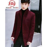 201812300736450452018新款秋冬季外套男加绒加厚呢子大衣男士中长款风衣韩版修身帅