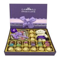 巧克力 圣诞节送女友女生浪漫礼物礼盒玫瑰花生日情人节礼物