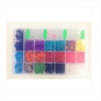 彩虹编织套装塑料大盒装手工创作 编制彩色皮筋手链套装