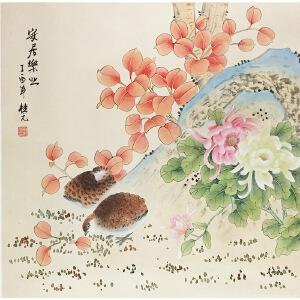 姚桂元《安居乐业》著名画家