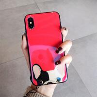 狗年红色新年款苹果xs手机壳硅胶7plus挂绳iphone8潮男女情侣 6/6S 4.7寸 很多狗