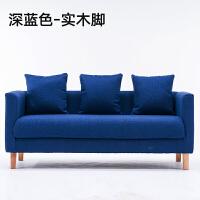 卧室小沙发小型客厅网吧租房服装店单人沙发椅双人布艺小户型沙发 全拆洗【乳胶+海绵】