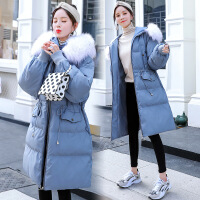 黛熊 大码纯色孕妇棉衣冬季韩版孕妇装中长款收腰孕妇棉袄X-185