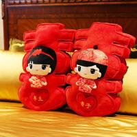 大号抱枕情侣靠垫压床布娃娃一对婚庆礼品玩具新婚结婚礼物