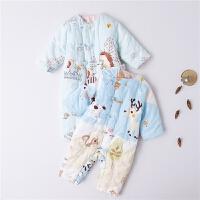 婴儿连体衣冬款哈衣男女宝宝爬服新生儿衣服