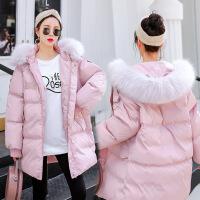 孕妇棉衣女冬季2018新款羽绒宽松加厚袄子保暖冬装短款外套
