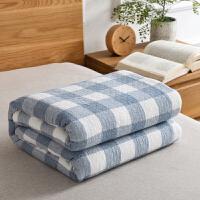 水洗纱布毛巾被纯棉棉毛巾毯单人双人毯床单
