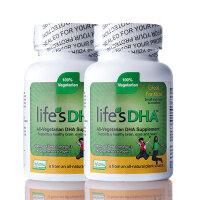 美国直邮 Life's DHA 马泰克Martek 儿童DHA 100mg海藻软胶囊 90粒*2瓶 海外购