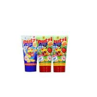 putzi普奇儿童牙膏 宝宝可吞咽牙膏组合(2支草莓味50ml+1支加钙50ml)