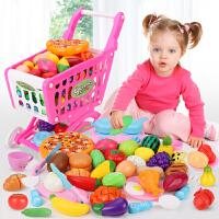 �和��^家家�物�玩具套�b����切切�匪�果蔬菜男女孩超市小手推�
