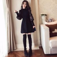 女装小香风打底内搭裙子小个子黑色针织2018新品